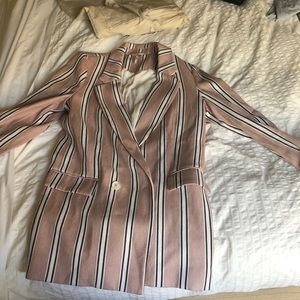 Blazer pink stripes